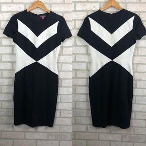 Vince Camuto Black and White Sheath Dress Size 4